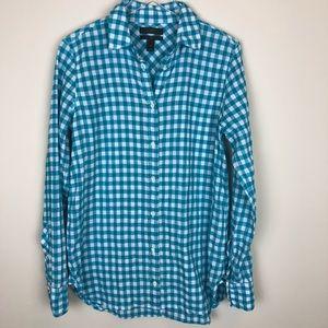 J. Crew Classic-Fit Boy Shirt Crinkle Gingham, sz0